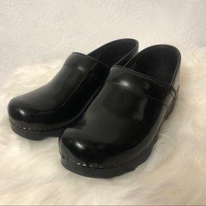 Dansko Patent Leather Clogs - Sz 38